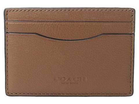 COACH Leather Card Case Box Set - Dark Saddle