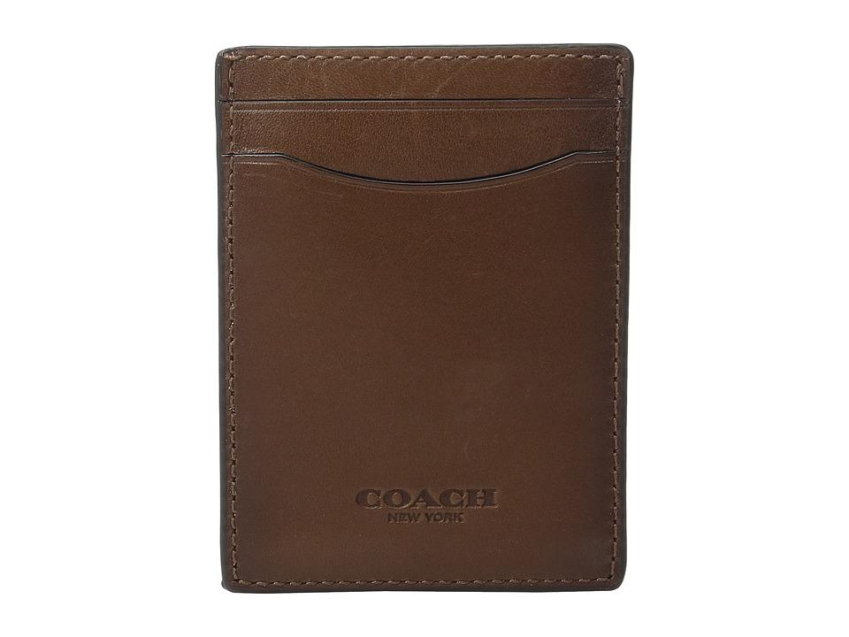 COACH - Sport Calf 3-in-1 Card Case (Dark Saddle) Credit card Wallet