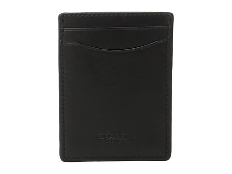 COACH Sport Calf 3-in-1 Card Case - Black