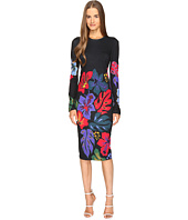 Prabal Gurung - Long Sleeve Floral Printed Knit Dress