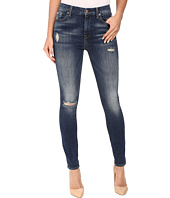 7 For All Mankind - The High Waist Skinny w/ Destroy in Vintage Kensington