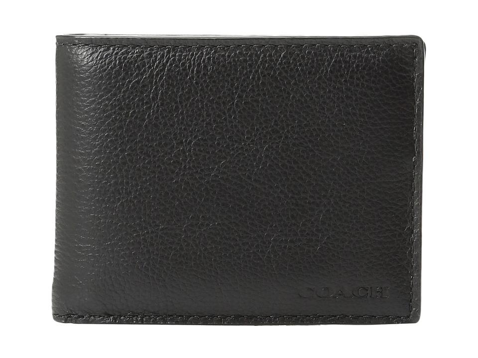 COACH - Leather Slim Billfold USW Box Set (Black) Bags