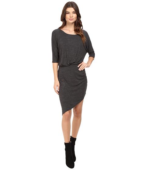 Splendid Heathered Slub Jersey Asymmetrical Hem Dress
