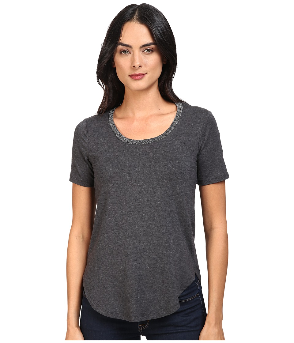 Splendid Sparkle Tee (Charcoal) Women