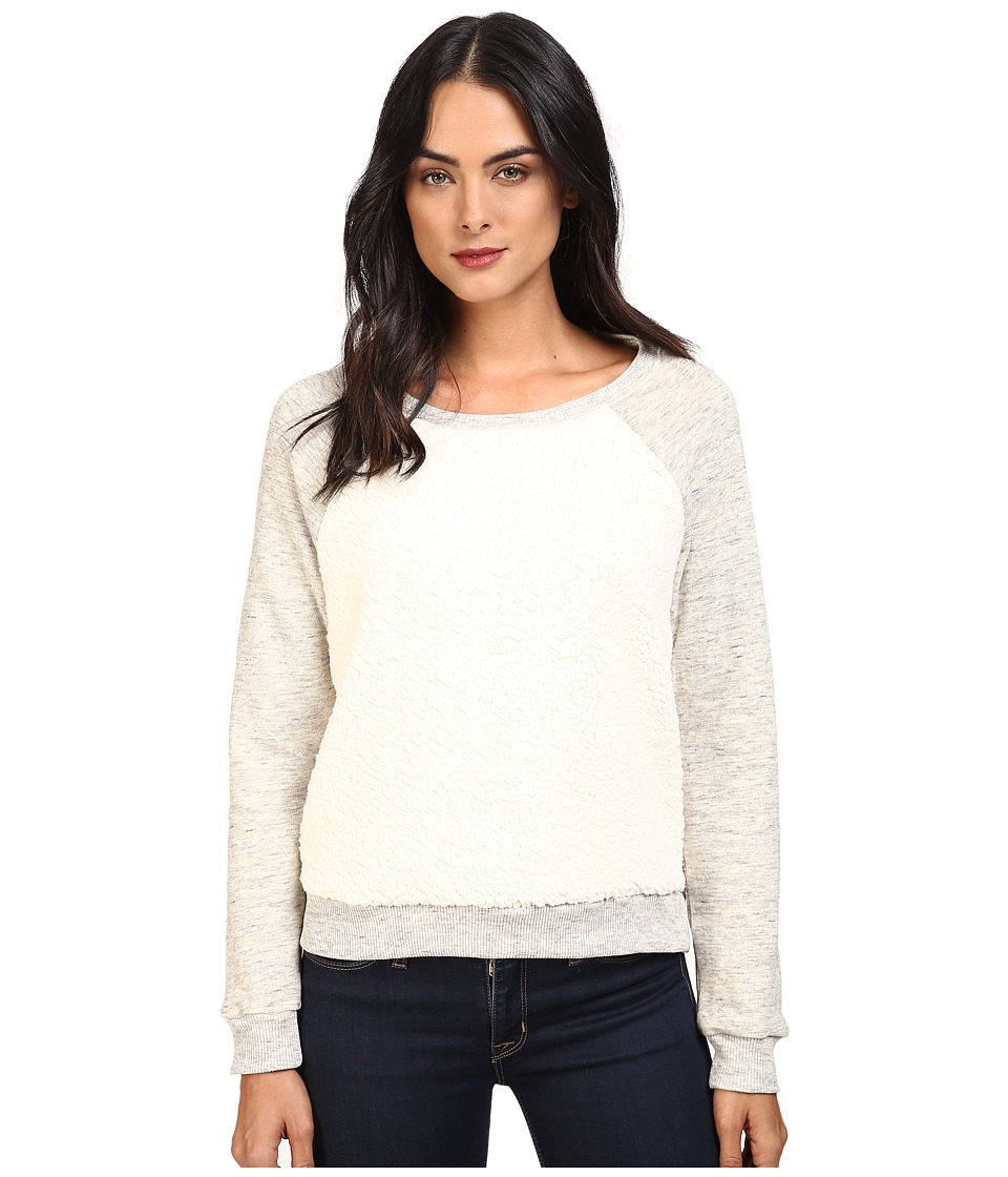 Splendid Loopine Lounge Sherpa Pullover (Heather Natural) Women