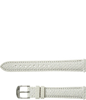 Michele - 16mm Snowflake White Snakeskin Strap