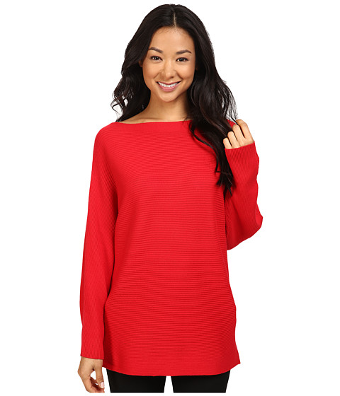 Vince Camuto Long Sleeve Boat Neck Ribbed Dolman Sweater