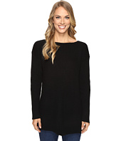 Vince Camuto - Long Sleeve Ribbed V Textured Sweater