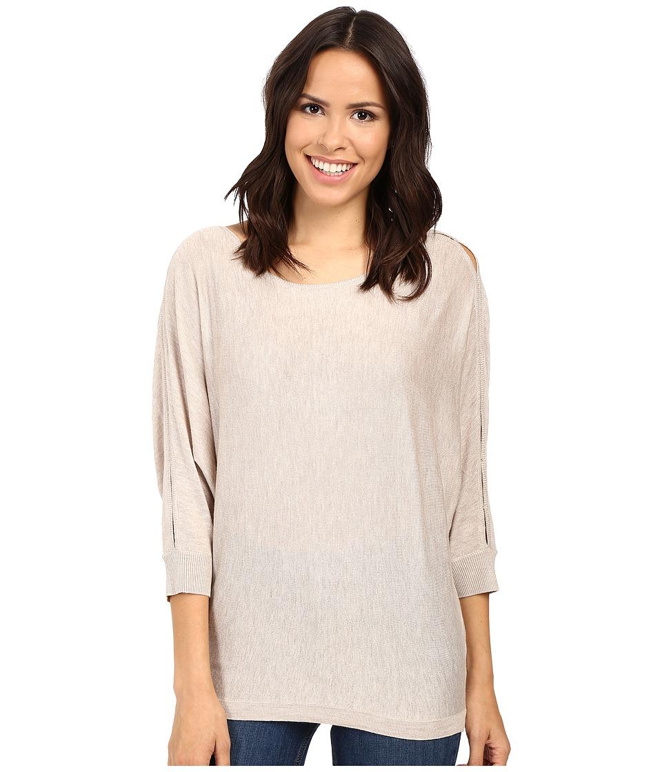 Splendid Bailey Sweater with Shoulder Slits (Heathered Wheat) Women