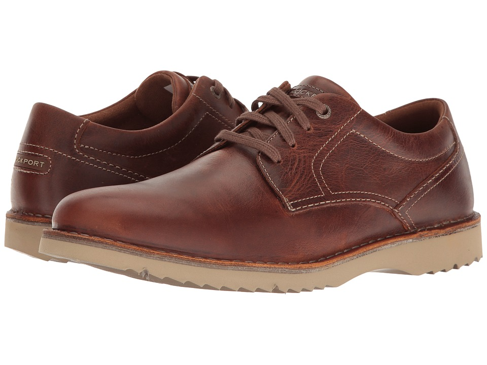Rockport - Cabot Plain Toe (Brown Leather) Mens Shoes