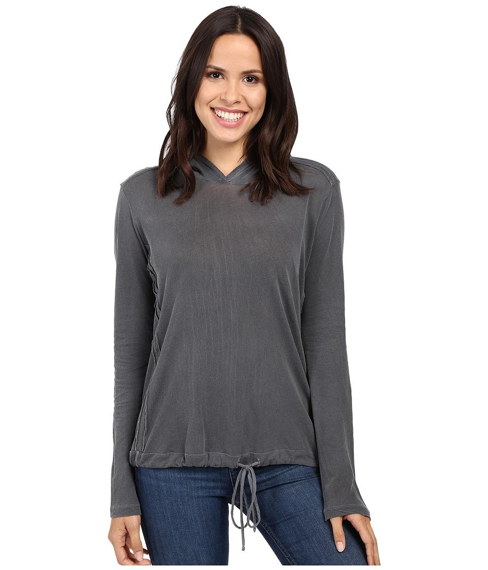 Splendid Vintage Whisper Hooded Long Sleeve Pullover (Lead) Women