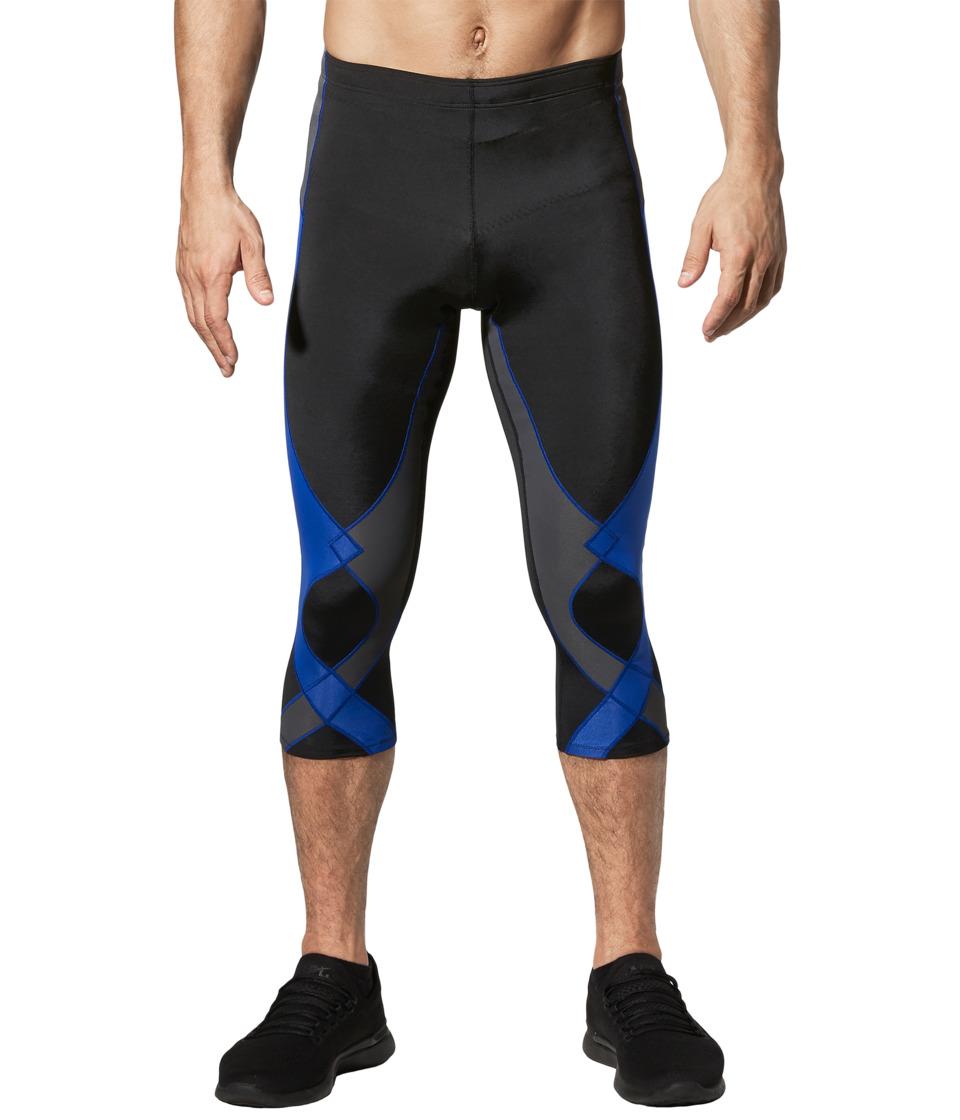 CW-X 3/4 Stabilyx Tights (Black/Grey/Blue) Men