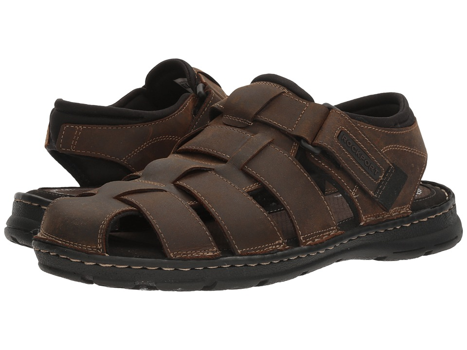 Rockport - Darwyn Fishermen (Brown II Leather) Mens Shoes