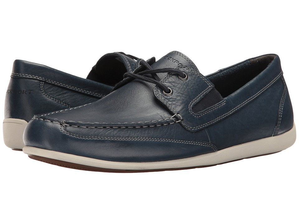 Rockport Bennett Lane 4 Boat Shoe (New Dress Blues Leather) Men