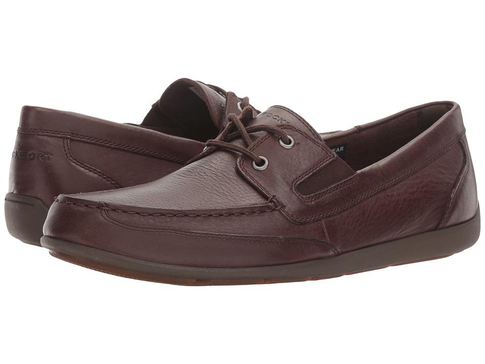 Rockport Bennett Lane 4 Boat Shoe (Brown Leather) Men
