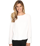 Vince Camuto - Flutter-Cuff Fold-Over Blouse
