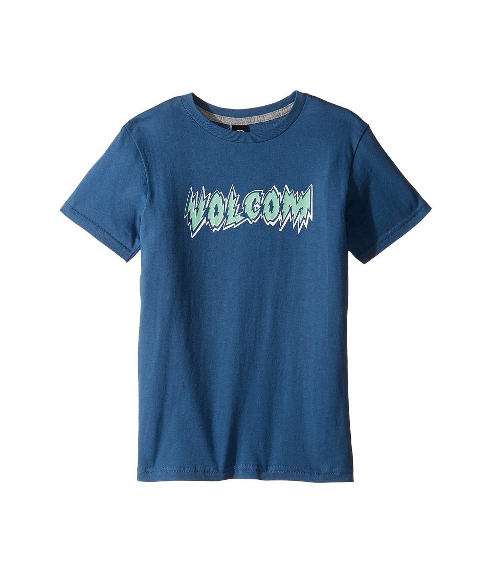 Volcom Kids Hesh Lord Short Sleeve Tee (Toddler/Little Kids) (Smokey Blue) Boy