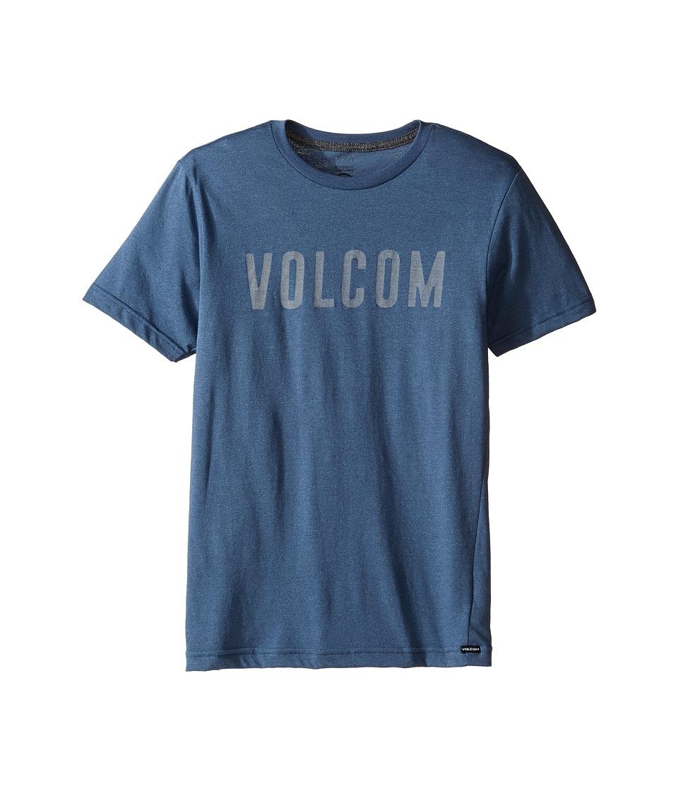 Volcom Kids Trucky Short Sleeve Tee (Big Kids) (Blue Plum) Boy