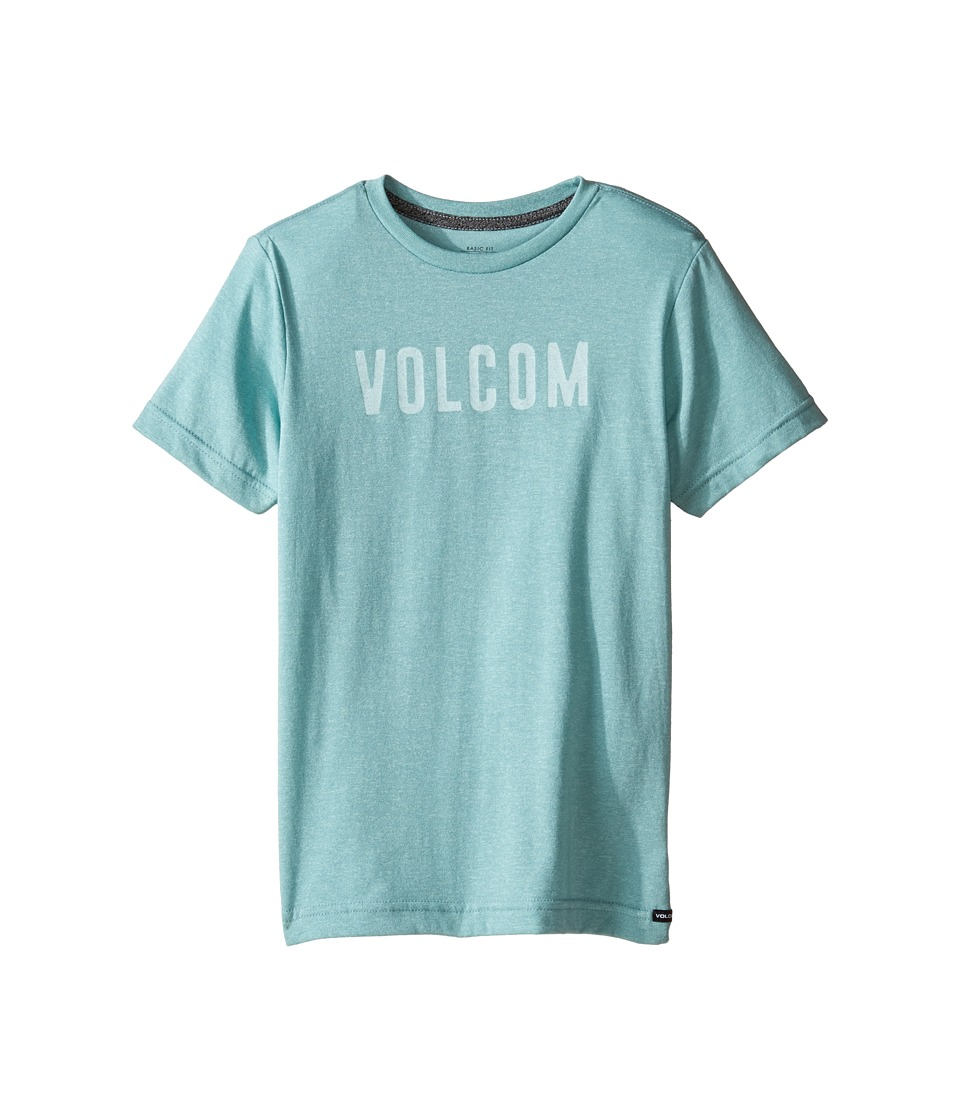Volcom Kids Trucky Short Sleeve Tee (Toddler/Little Kids) (Sea Blue Heather) Boy