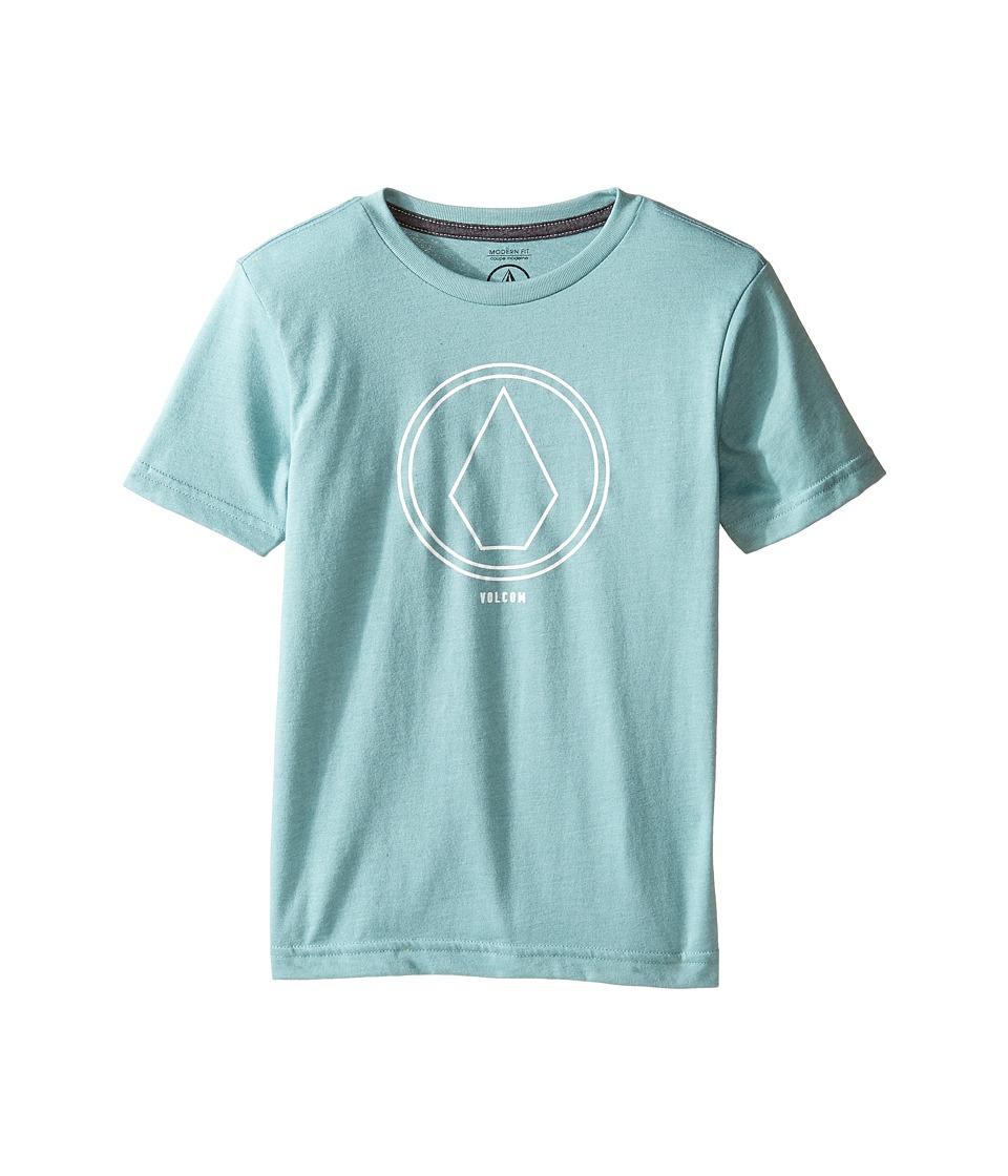 Volcom Kids Pin Line Stone Short Sleeve Tee (Toddler/Little Kids) (Sea Blue Heather) Boy