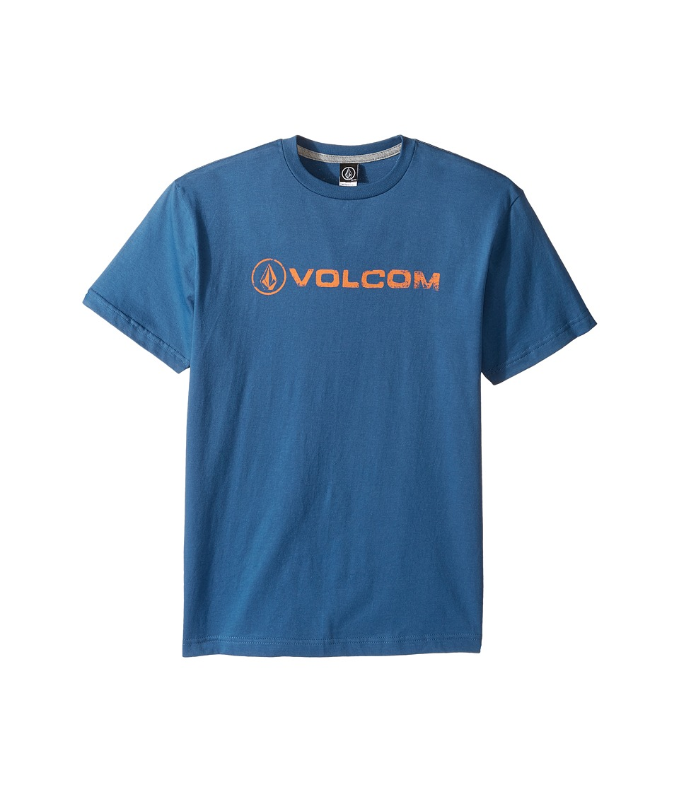 Volcom Kids Lino Euro Short Sleeve Tee (Big Kids) (Smokey Blue) Boy