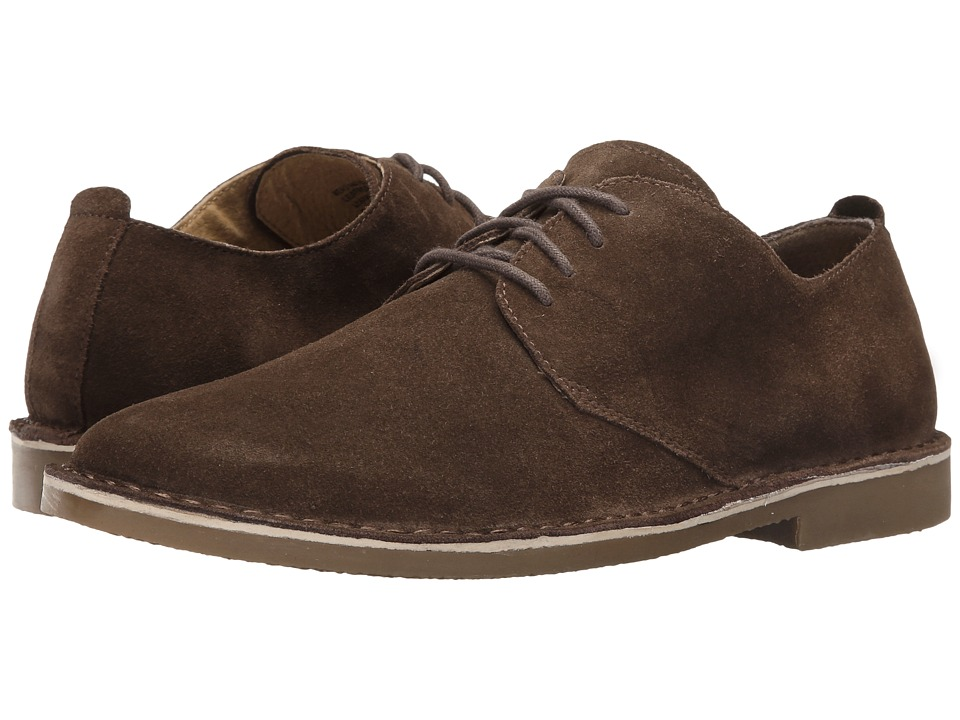 Nunn Bush - Gordy Plain Toe Oxford (Dark Brown) Mens Lace up casual Shoes