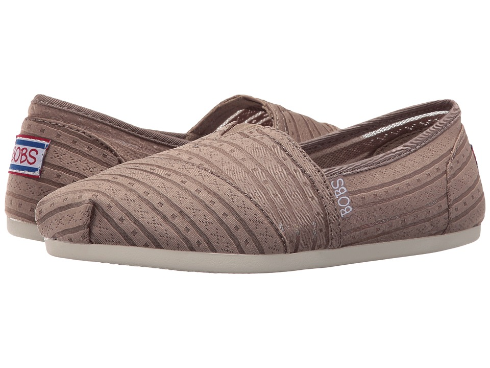 BOBS from SKECHERS - Bobs Plush (Taupe) Womens Shoes