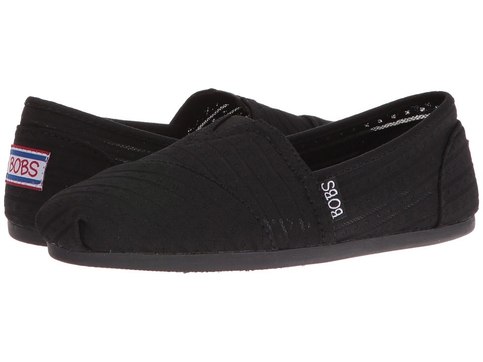 BOBS from SKECHERS Bobs Plush (Black/Black) Women