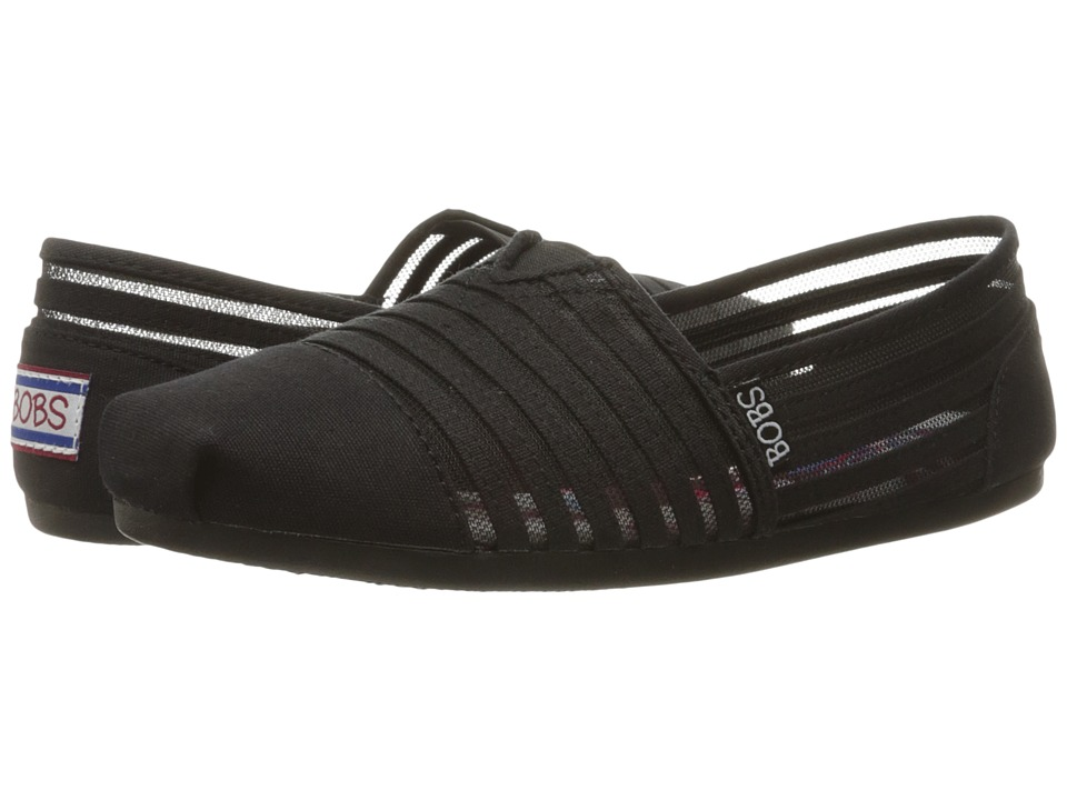 BOBS from SKECHERS Bobs Plush (Black/Black 1) Women