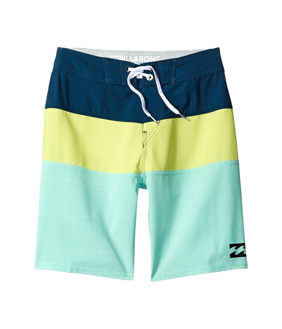 Billabong Kids Tribong X Boardshorts (Big Kids) (Lime) Boy
