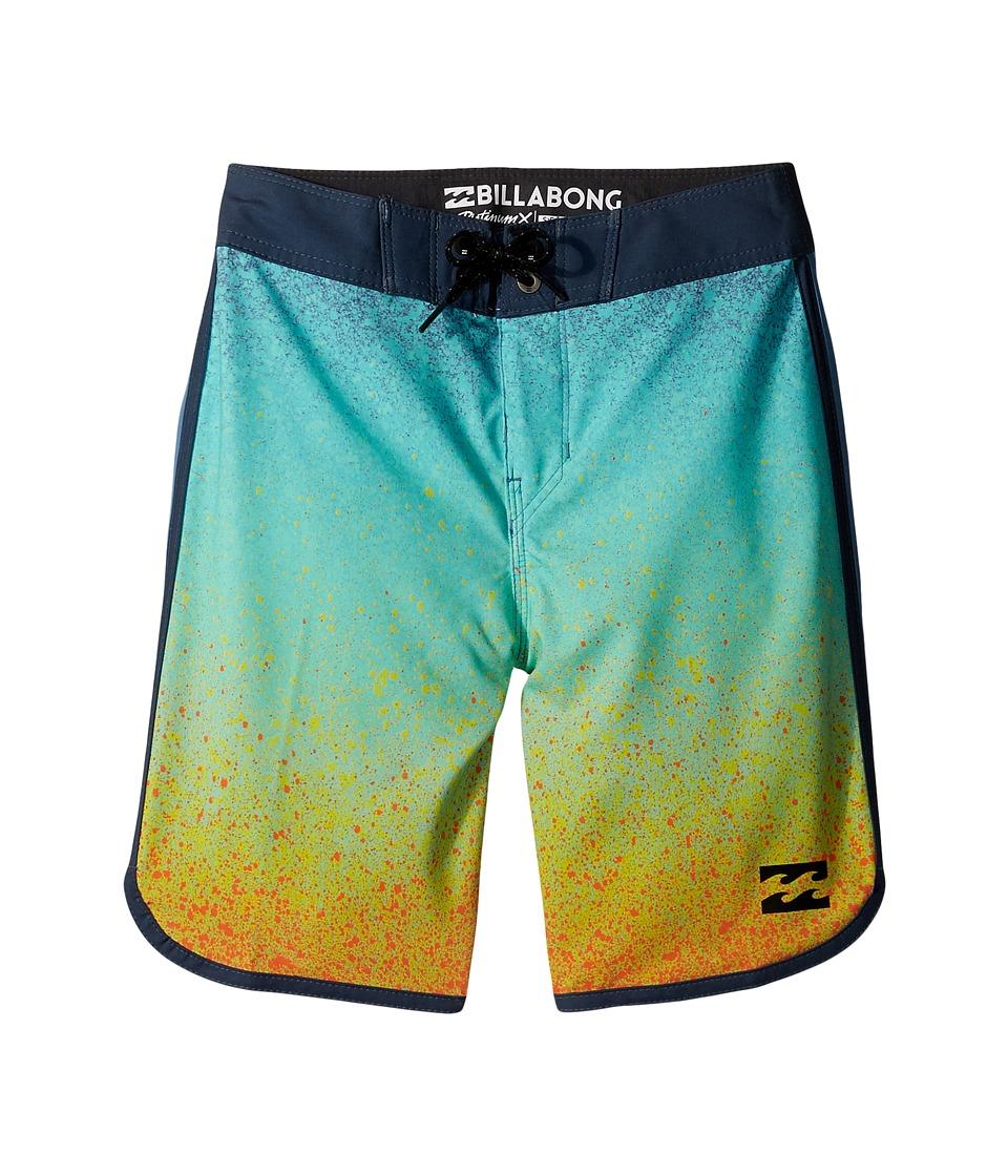 Billabong Kids 73 X Lineup Boardshorts (Big Kids) (Orange) Boy