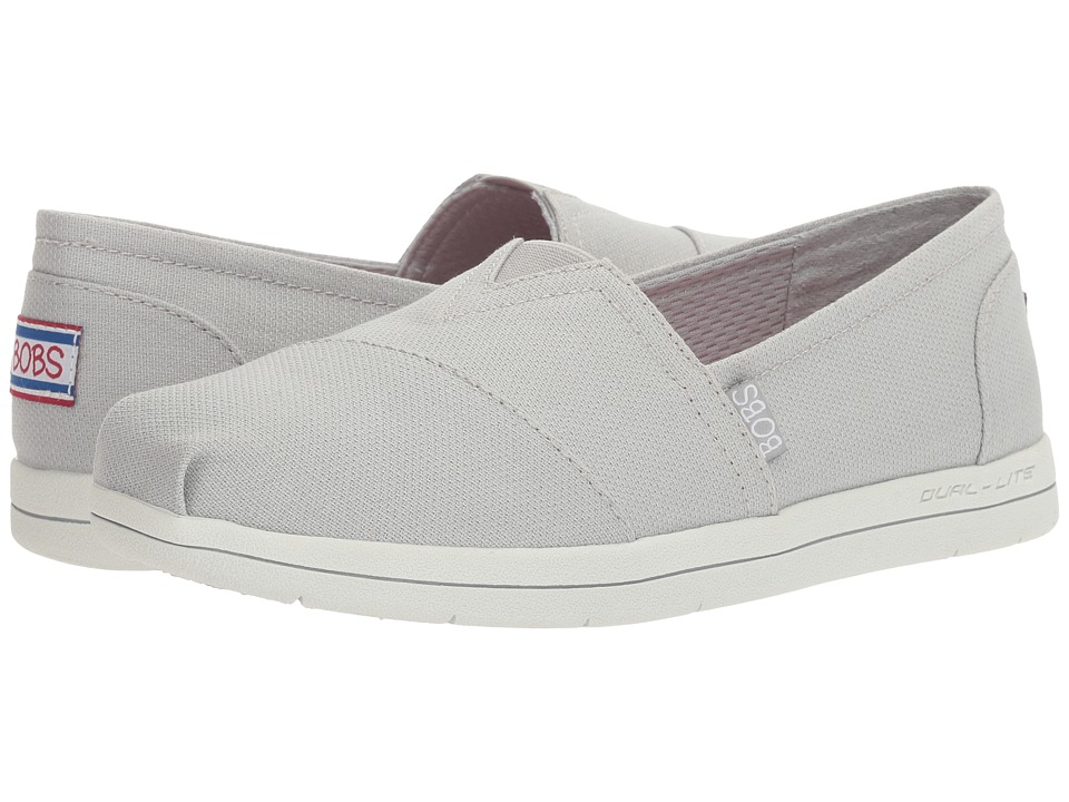 BOBS from SKECHERS Super Plush Slick N Cool (Light Gray) Women