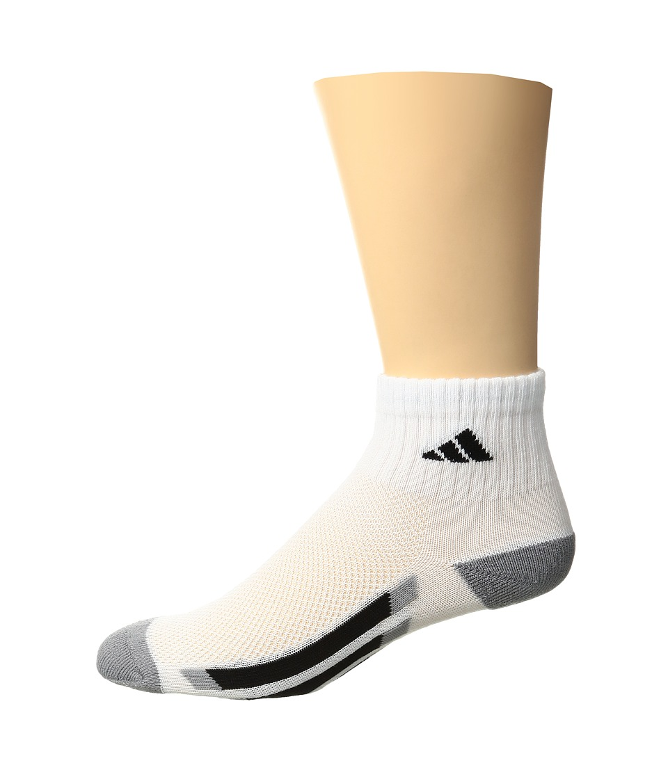 adidas Kids - Vertical Stripe Quarter Socks 6-Pack