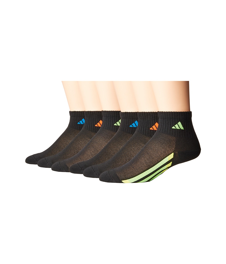 adidas Kids - Vertical Stripe Quarter Socks 6