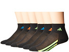 adidas Kids - Vertical Stripe Quarter Socks 6-Pack (Toddler/Little Kid/Big Kid/Adult)