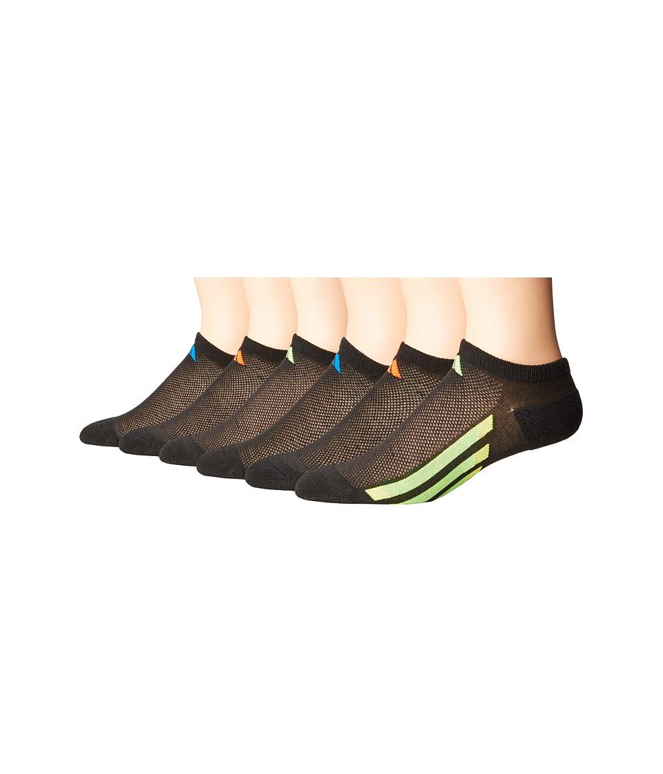 adidas Kids - Vertical Stripe No Show 6-Pack