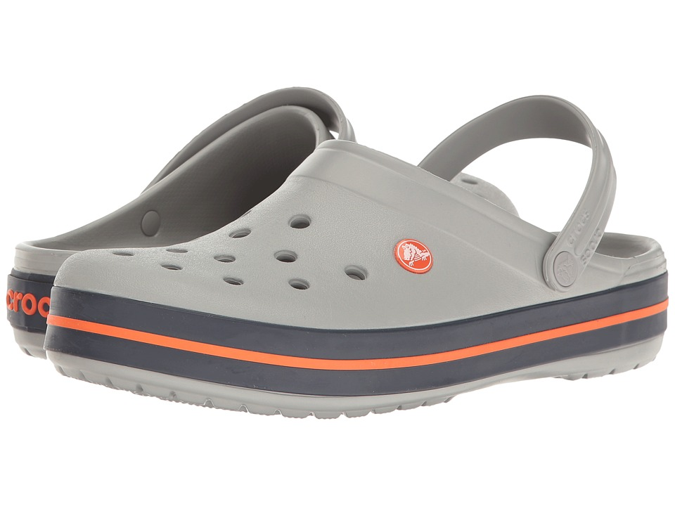 Crocs - Crocband Clog (Light Grey/Navy) Clog Shoes