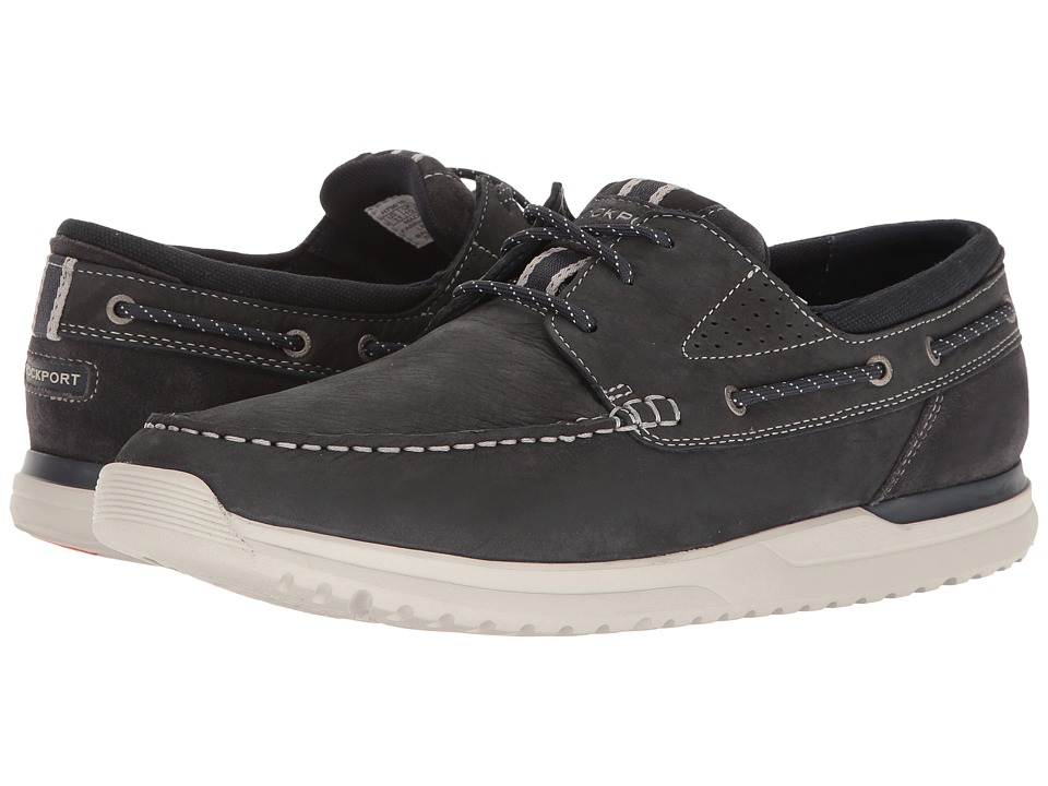 Rockport - Langdon 3 Eye Ox (India Ink Nubuck) Mens Lace up casual Shoes