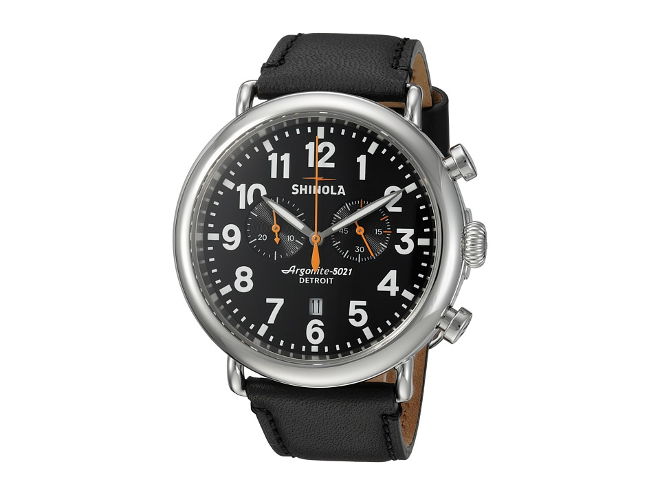 Shinola Detroit - The Runwell Chrono 47mm - 10000051 (Black/Black) Watches