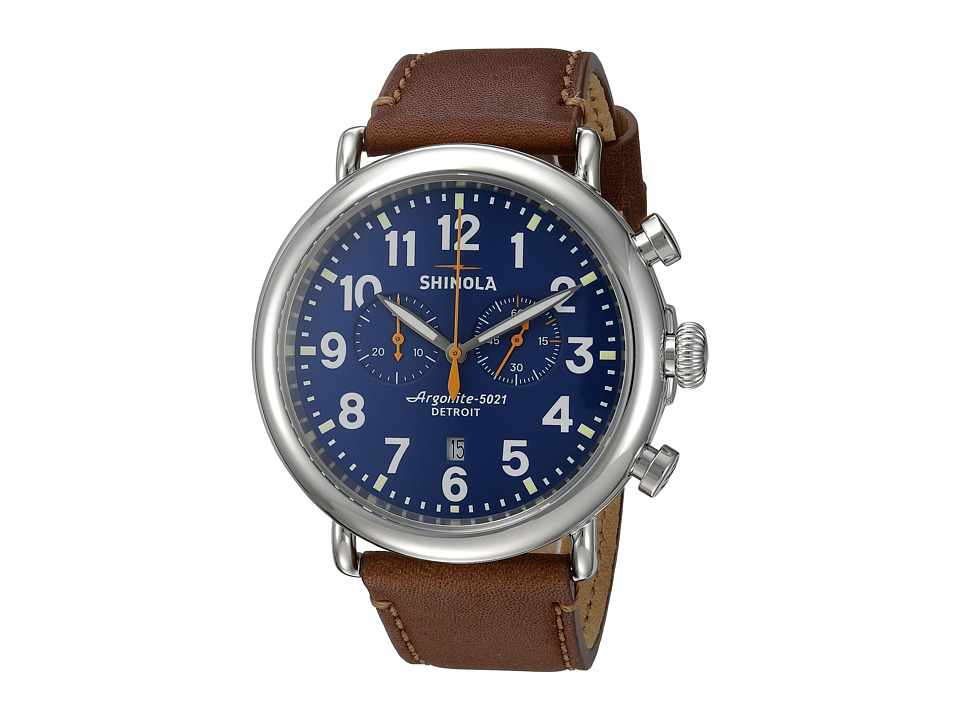 Shinola Detroit - The Runwell Chrono 47mm - 10000047 (Blue/Dark Brown) Watches