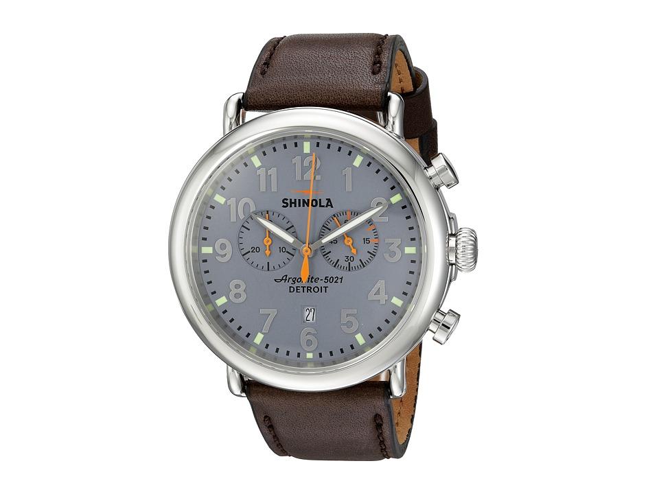 Shinola Detroit - The Runwell Chrono 47mm - 10000167 (Slate Blue/Deep Brown) Watches