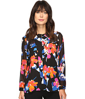 Vince Camuto - Long Sleeve Floral Rendezvous Keyhole Blouse