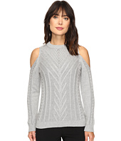 Vince Camuto - Long Sleeve Cold-Shoulder Cable Sweater