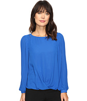Vince Camuto - Pleated Sleeve Fold-Over Blouse