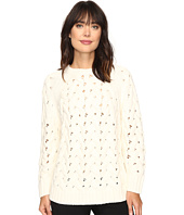 Vince Camuto - Long Sleeve Crew Neck Chunky Cable Sweater