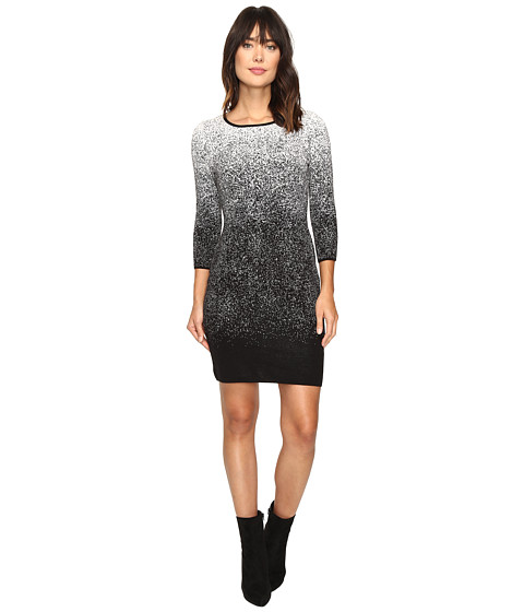 Vince Camuto 3/4 Sleeve Ombre Jacquard Sweater Dress