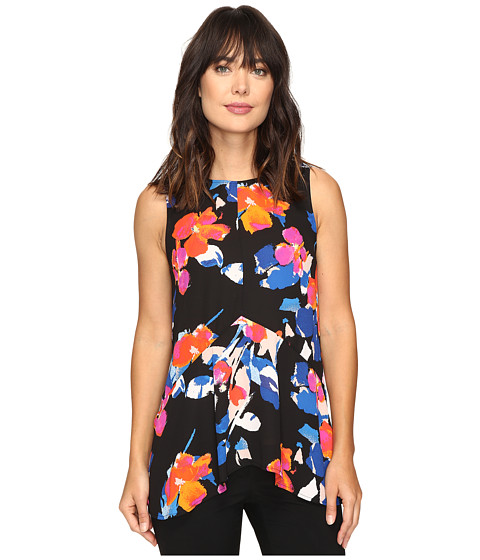 Vince Camuto Sleeveless Floral Rendezvous Ruffle Front Blouse