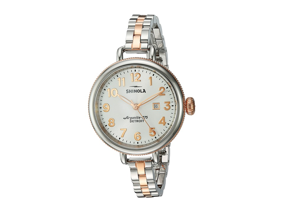 Shinola Detroit - The Birdy 34mm - 20001100 (Pearl White/Stainless Steel/Rose Gold) Watches