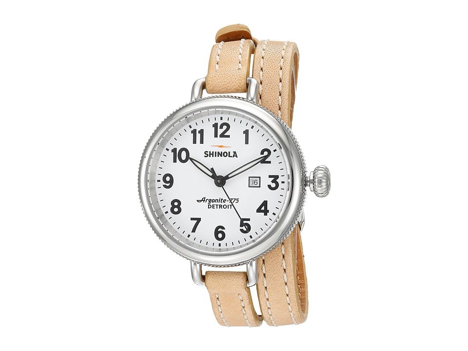 Shinola Detroit - The Birdy 34mm - 10000234 (White/Natural) Watches