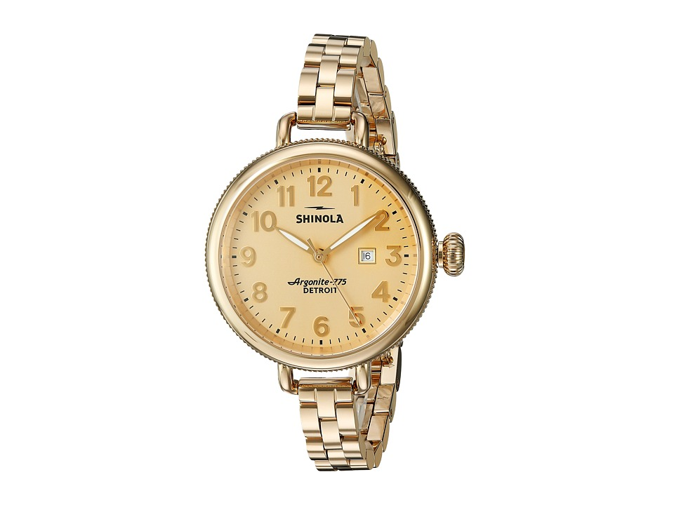 Shinola Detroit - The Birdy 34mm - 10000211 (Gold/Gold) Watches